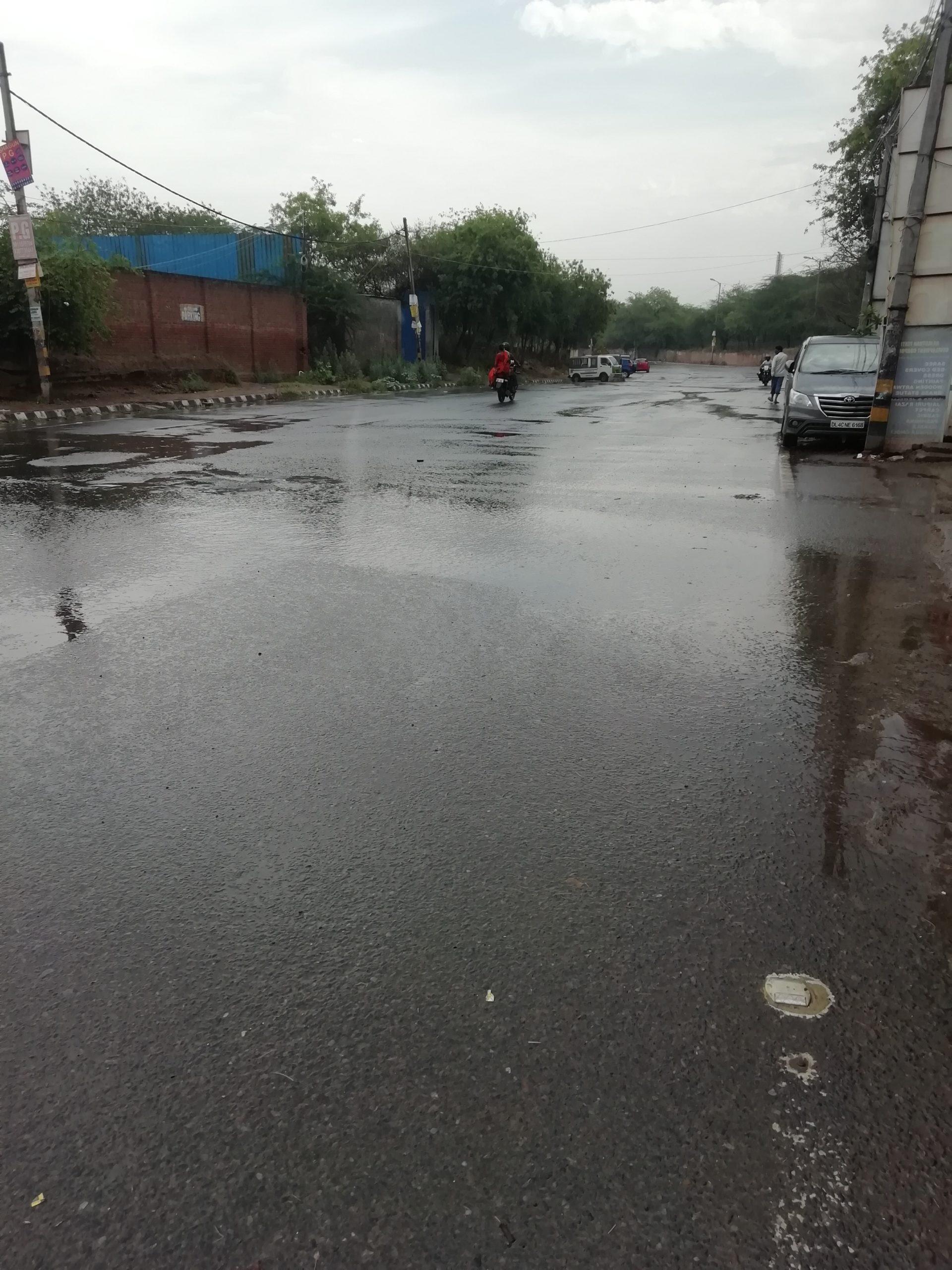 theme raining street